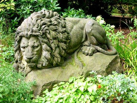 Stone Figure, Stone Lion, Sculpture, Lion, Stone, Fig