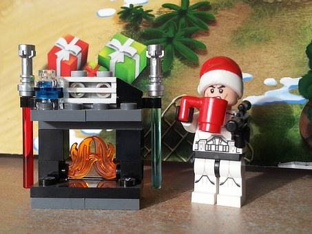 Lego, Star Wars, Christmas, Fireplace, Storm Trooper