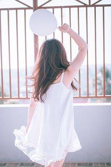 Girl, White, Dress, Female, Sunset, Style, Model, Woman