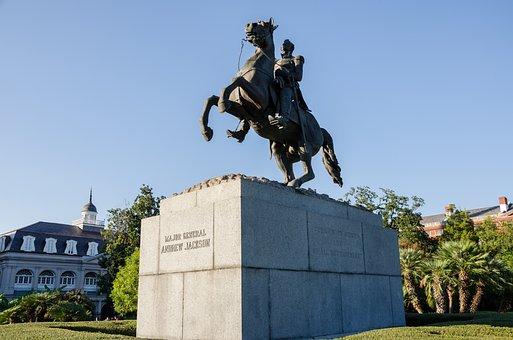 Usa, America, Louisiana, Statue, Monument
