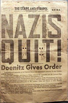 The Stars And Stripes Extra, Newspaper, Nazis, Ww2