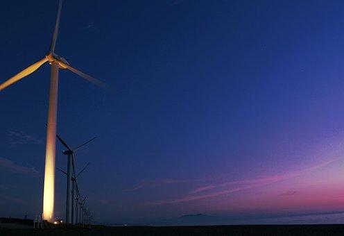 Wind Turbine, Coast, Akita, Mitane Akita, Kamaya Beach