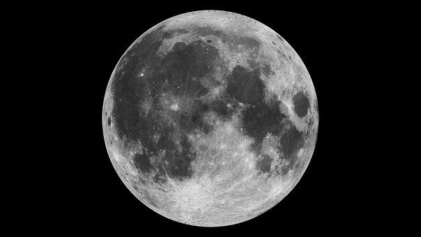 Moon, Night, Full Moon, Brightness, Astro, Supermoon