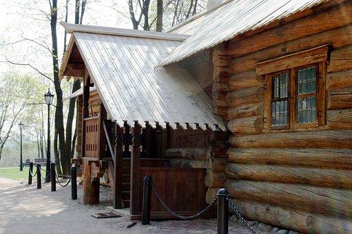 Log Cabin, Wood Cabin, Hut, Brown, Historic