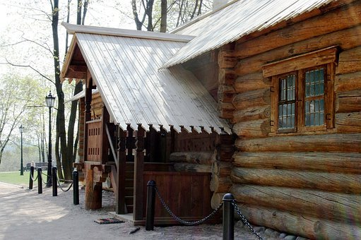 Log Cabin, Wood Cabin, Hut, Brown, Historic