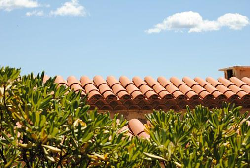 Roof, Terracotta, Architecture, Blue, Brown, Building