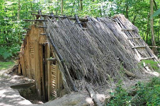 Wattle And Daub Old, Built, Bungalow, Cabin, Chalet