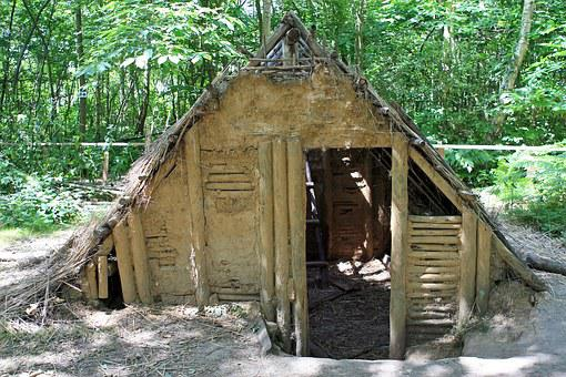 Wattle And Daub, Built, Bungalow, Cabin, Chalet