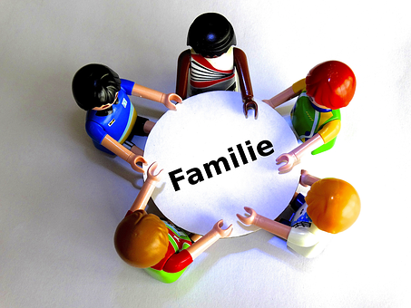 Family, Table, Playmobil, Round Table, Talk, Consulting