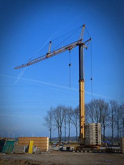 Crane, Baukran, Site, Construction Work, Boom