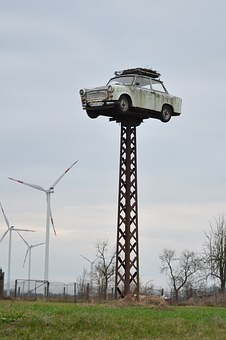 Trabi, Satellite, Storchennest, Old, Ddr, Automotive