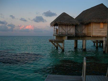 Tahiti, French Polynesia, Atoll, Tikehau, Bungalow