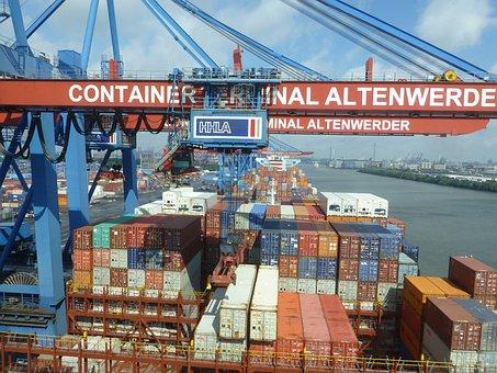 Container, Container Gantry Crane, Hamburg