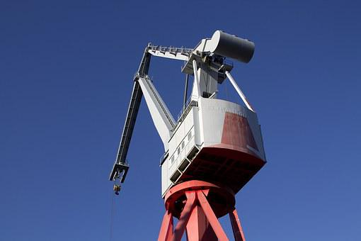 Crane, Port, Harbor, Industry, Cargo, Industrial, Dock
