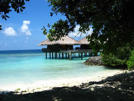North Male Atoll, Bungalow, Maldives, Sea, Sun, Hot