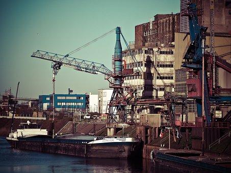 Port, Inland Port, Shipping, Cargo Ships, Ship