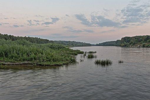 River, Desna, Nature, Landscape, Lake, Swamp, Sky