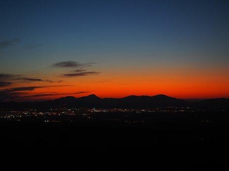 Evening Hour, Sunset, Palma, Palma De Mallorca, Lights