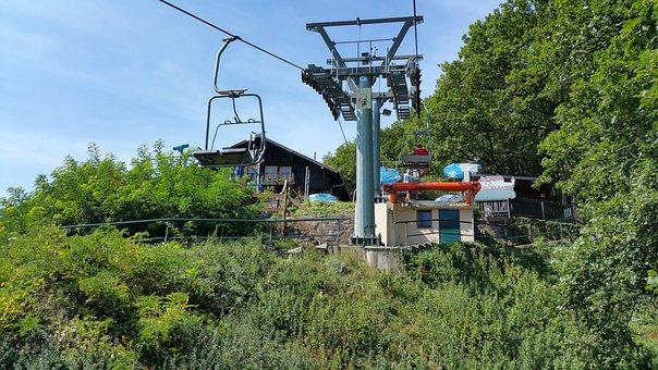 Vianden, Luxembourg, Hill, Chair Lift