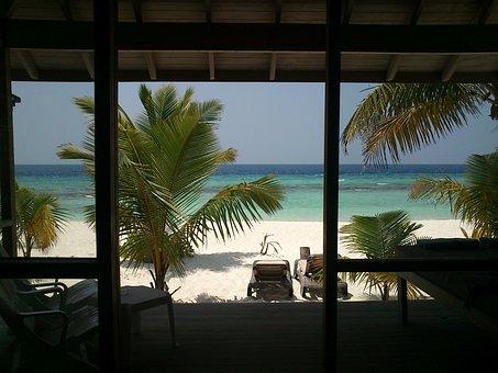 Maldives, Kuredu, View, Beach Bungalow, O Area