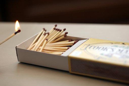 Matches, Matchstick, Flame, Fire, Match, Burn, Burning