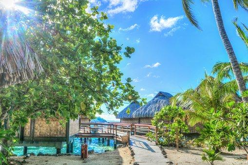 Bora Bora, French Polynesia, South Pacific, Ocean