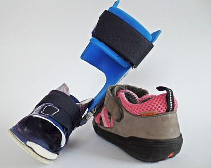 Orthosis, Rail, Shoes, Orthotic Shoes, Pink, Grey, Run