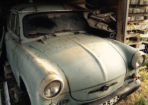 Satellite, P50, Trabbi, Old, Retrp, Dust, Garage, Auto