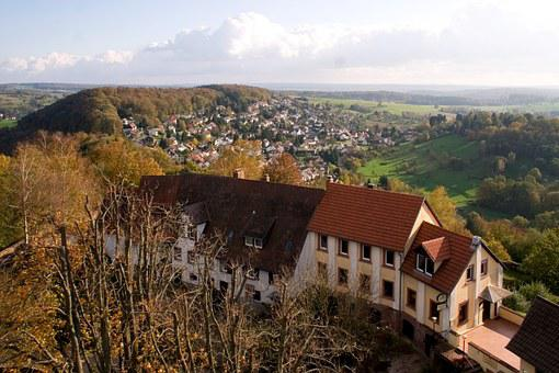 Odenwald, Panorama, Autumn Dilsberg, Landscape, View