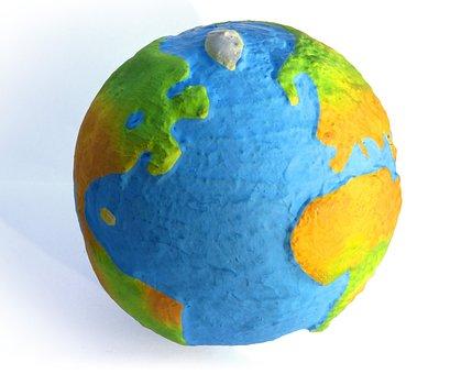 Globe, Paper Mache, Craft, Planet