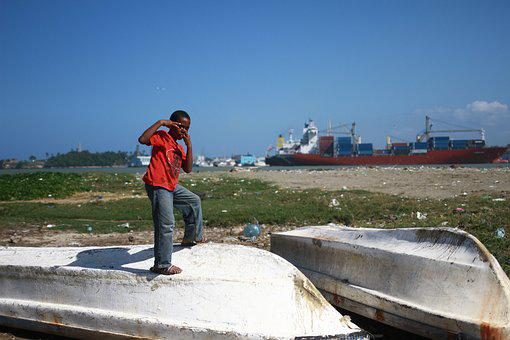 Young Boy, Dominican Republic, Poverty, Child, Port