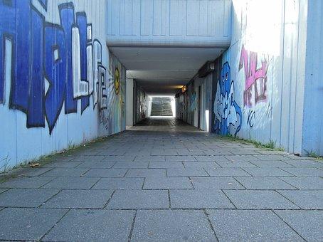 Underpass, Railway Underpass, Concrete, Hell, Away