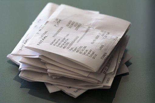 Receipts, Receipt, Pay, Shopping, Wealth, Supermarket
