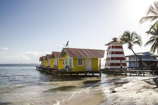 Bungalow, House, Sea, Beach, Lighthouse, Wooden, Travel