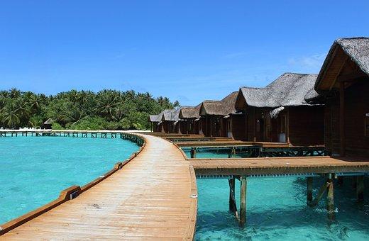 Maldives, Holiday, Sea, Water, Island, Summer, Sky