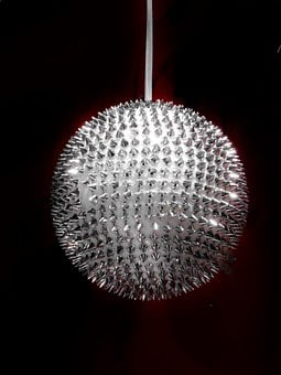 Glass Ball, Silver, Christmas Decoration, Large