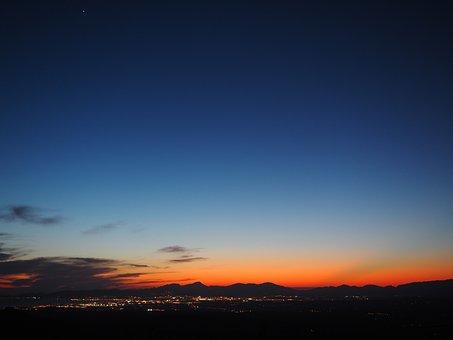 Sky, Blue, Orange, Pastel, Pastellfarben, Palma