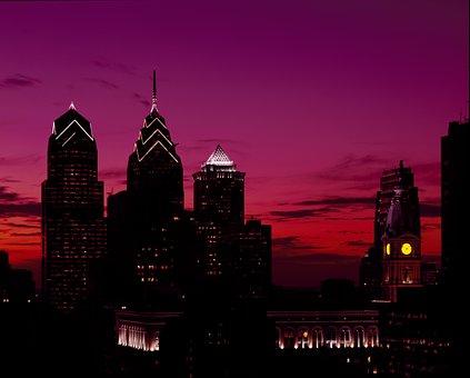 Philadelphia, Pennsylvania, Skyline, Usa, Skyscraper