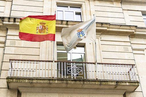 Flags, Spain, Galicia, Spanish, National, Symbol