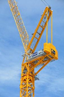 Crane, Winch, Industry, Construction, Heavy, Steel