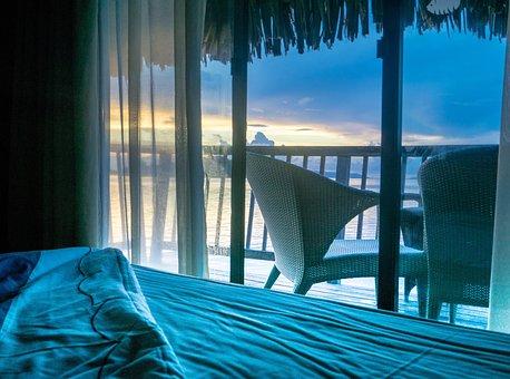 Sunrise, Over Water Bungalow, Bora Bora, South Pacific
