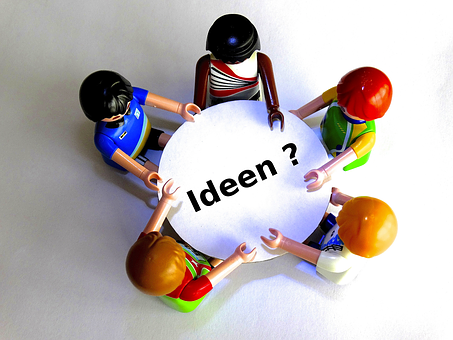 Teamwork, Table, Playmobil, Round Table, Talk