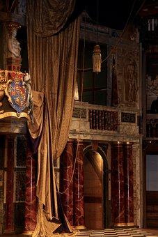 Globe, London, Theatre, Theater, Famous, Uk, Curtain