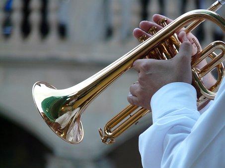Trumpet Player, Trumpet, Musician, Blowers, Music