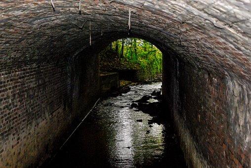 Bach, Underpass, Tunnel, Abandoned, Passage, Dark