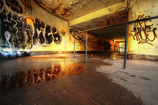 Underpass, Subway, Pedestrian, Graffiti, Murals