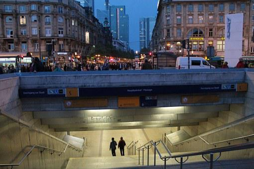 Frankfurt, Railway Station, Underpass, Stairs