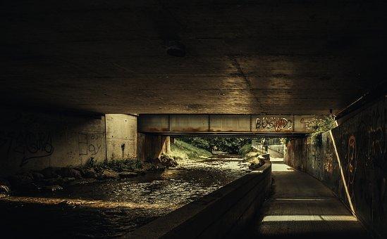 Bridge, Graffiti, Youth, Structure, Vandalism, Spray