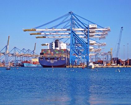 Dock, Ship, Container, Port, Boat, Vessel, Sea