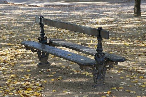 Bench, Luxembourg Garden, Paris, Wooden, Park, Seating